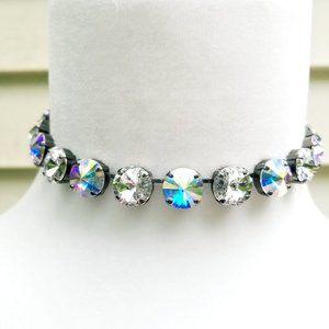 Jewelry - Large Round Bling Rhinestone AB Choker Necklace
